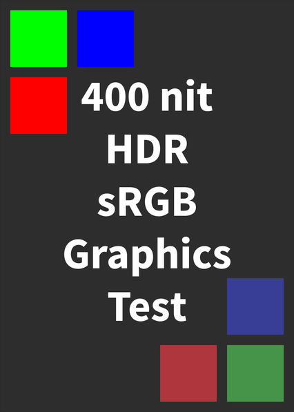 HDR sRGB Graphics Test (400 nits) on Netflix USA
